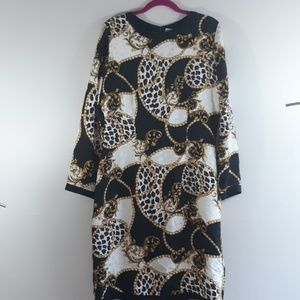 Adrianna Papell Long Sleeve Dress Size 12